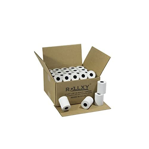 (50 Rolls) 2 1/4 x 85' First Data FD130 FD50 FD55 FD100Ti Thermal Paper (50 Rolls)