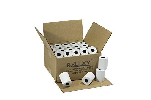 (50 Rolls) 2 1/4 x 85' First Data FD130 FD50 FD55 FD100Ti Thermal Paper (50 Rolls) by PosPaperRoll