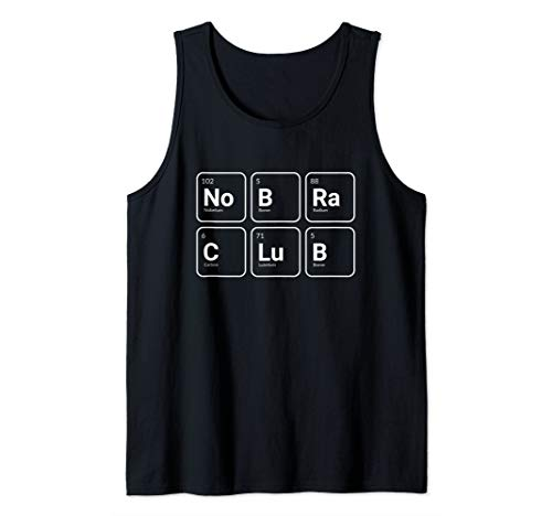 No Bra Club Science Periodic Table Elements Shirt Tank Top - Element Cotton Tank Top