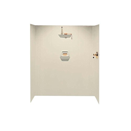 Swanstone SW-7060-037 High Gloss Six Panel Shower Wall Kit, Bone Finish Swanstone Bathtub Walls