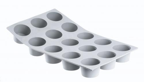 Buyer De Elastomoule Mini - De Buyer Professional Elastomoule 15 Portion Miniature Muffin Mold 1858.01D