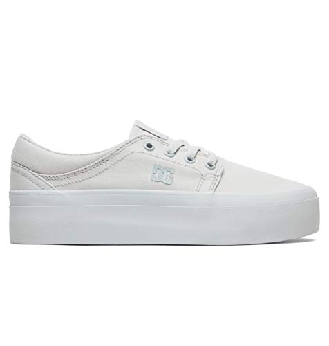 DC Shoes Womens Shoes Trase Platform Tx - Flatform Shoes - Women - US 7 - Grey Grey US 7 / UK 5 / EU 38
