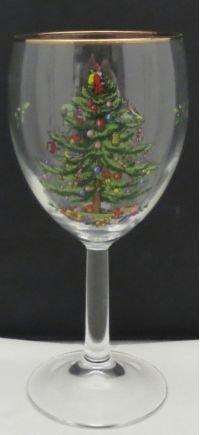 (Spode Christmas Tree (Green Trim) 12 Oz Glassware Wine)