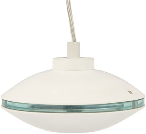 Lite Source LS-19957WHT Espace Pendant Lamp with White Metal Shade