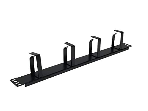 1U Cable Management Horizontal Cable Manager Rack Mount Server Cabinet Manager