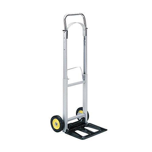 - Safco Products 4061 Hide-Away Collapsible Utility Hand Truck, Silver/Black