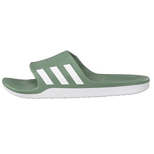 Adidas Aqualette Cf, Infradito Unisex – Adulto, Verde (Vertra/Ftwbla/Vertra), 50 EU