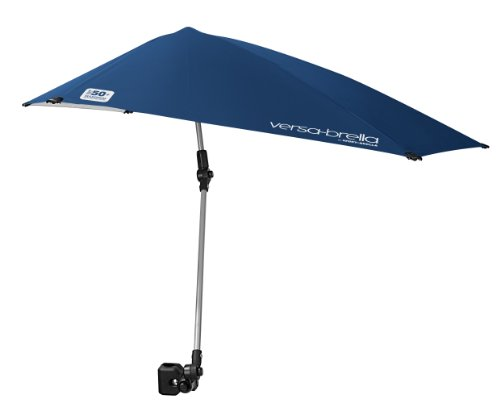 (Sport-Brella Versa-Brella 4-Way Swiveling Sun Umbrella (Midnight Blue), 38x39 )