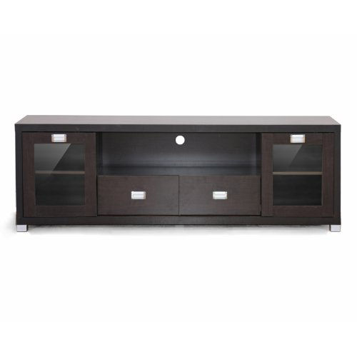 Contemporary Entertainment Stands (Baxton Studio Gosford Brown Wood Modern TV)