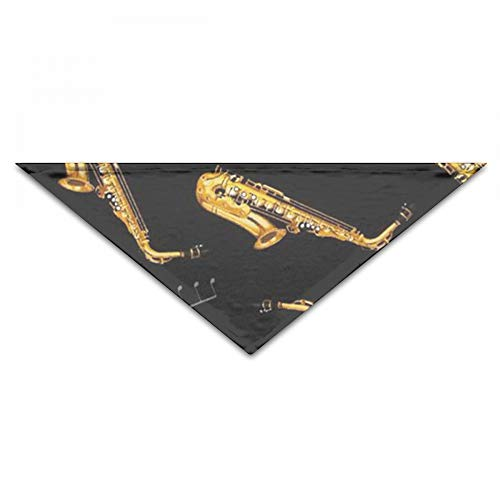 - JKCSD Dog Bandanas - Triangle Bibs Saxophone Music Printing Dog Kerchief Set - Scarfs Accessories Small To Large Dogs Cats Pets