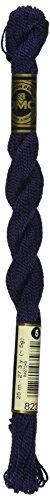 Cotton Pearl Thread (DMC 115 5-823 Pearl Cotton Thread, Dark Navy Blue, Size 5)