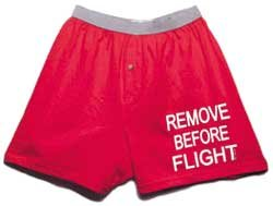 Born Aviation Men's Remove Before Flight Boxer Shorts-Red-Medium (Remove Before Flight Clothes)
