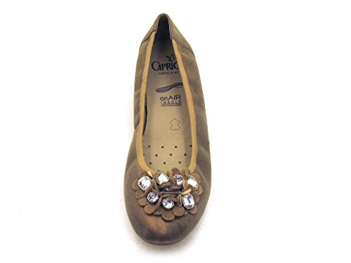Caprice - Bailarinas de cuero para mujer - bronce