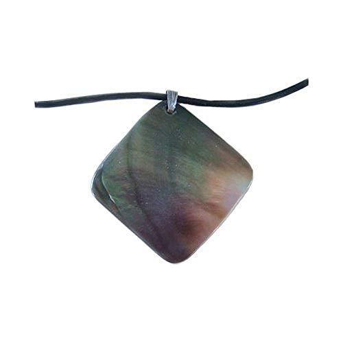 - Hawaiian Jewelry Paua Square Pendant Shell Necklace from Hawaii