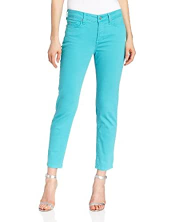 NYDJ Women's Alisha Fitted Ankle Colored Twill Jeans, Aquamarine, 6