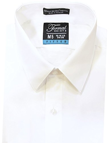 Formal Shirts Men's Fitted Point Collar Luxe Microfiber Dress Tuxedo Shirt
