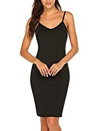 Corgy Women Long Spaghetti Strap Full Cami Slip Camisole Under Dress Liner