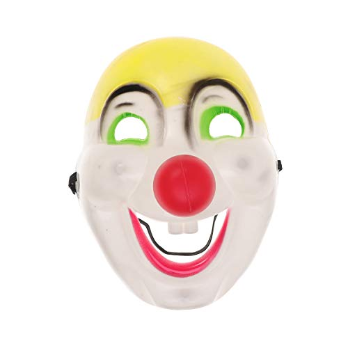 Amosfun Halloween Mask Funny Clown Mask Halloween Costumes Fancy Dress Party Prop Cute Head Cover Plastic Colorful Mask Cosplay Monster Prom Party Favor -