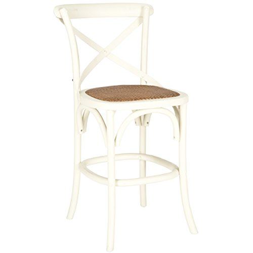 Admirable Safavieh American Homes Collection Franklin Counter Stool Antique White Lamtechconsult Wood Chair Design Ideas Lamtechconsultcom