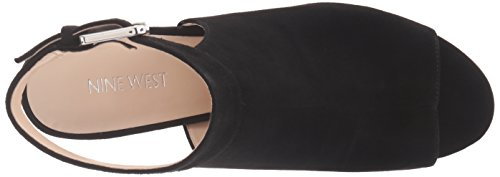 Nine West Women's Justdance Suede Dress Sandal, Black, 7 M US