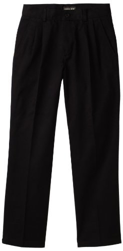 - Dockers  Big Boys' Pleated Twill Pant,Black,14