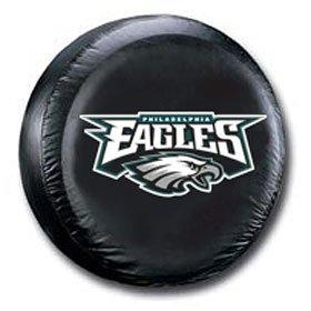 (Fremont Die Philadelphia Eagles Black Tire Cover - Size)