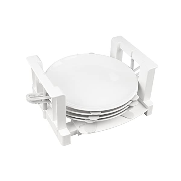 31yZZrqcPVL Froli Tellerhalter Wohnmobil Wohnwagen, 6 Teller Geschirrhalter, Kunststoff, Tellergrößen zwischen 200-300 mm (1)