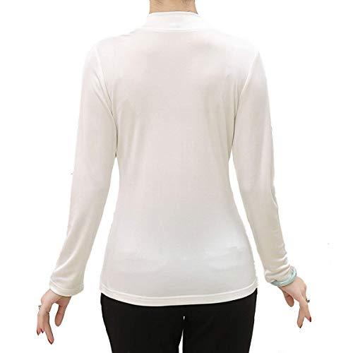 Manches Col Saoye Vêtements Blanc Roulé Pull À Femmes Longues Fashion Man wnwCRxaP