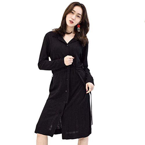 (Nat Terry Women Casual V-Neck Knit Long Sleeve Dress, Splicing Mini Short Dress)