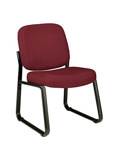 OFM Upholstered Armless Guest / Reception Chair, Wine (Armless Club Chair)