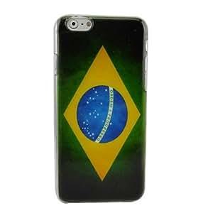 TOPQQ Retro Flag of Brazil Plastic Hard Back Cover for iPhone 6 Plus