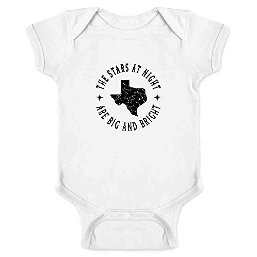 Texas Stars at Night are Big and Bright Song White 18M Infant Bodysuit