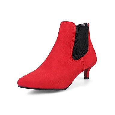 Automne 5 Vert cm Gris Confort amp;xuezi Boucle Similicuir à Marche 2 Hiver 5 red Rouge Décontracté Kitten GLL Bottes Noir Heel 4 Femme Habillé xX6fnUn
