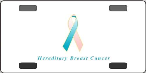 - Hereditary Breast Cancer Awareness Ribbon Vanity License Plate