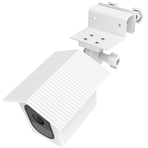 TIUIHU Gutter Mount with Weatherproof roof for Arlo Pro, Arlo Pro 2 - No Tools and Simple Install Outdoor Wall Mount?White?