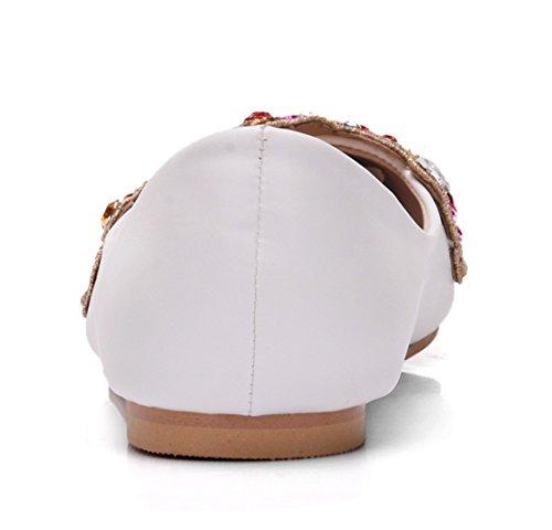 Femme Blanc 5 Blanc Compensées 36 Sandales MGM Joymod qntx4wFx8