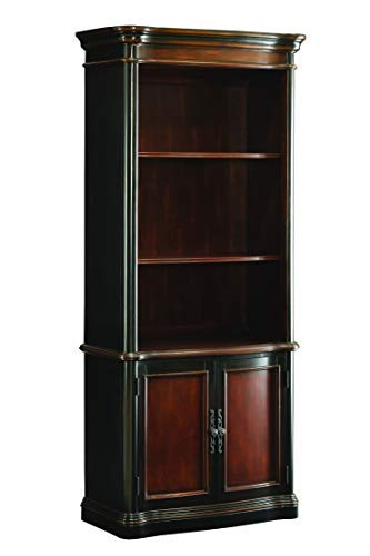 Cherry Bookcase Cabinet Traditional (Coaster Home Furnishings Gorman 3-Tier Bookcase with Lower Cabinet Doors Espresso and Chestnut)