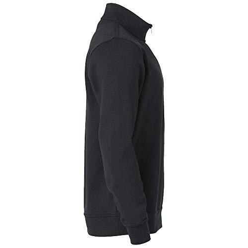 00 sudadera Clique Hombre Weiß zip Half Opaco Basic Sweatshirt Mujer vOOPIzq