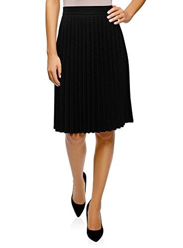 Femme 2910s Plisse Noir Collection Jupe Longue oodji f10A5qf