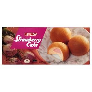 Euro Cake, Strawberry Cake, net weight 144 g (Pack of 1 piece) / Beststore by KK