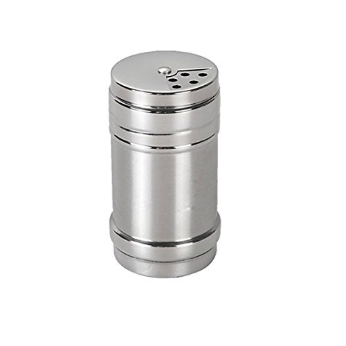 Steel Dredge Salt/Sugar / Spice/Pepper Shaker Seasoning Cans with Rotating Cover ()