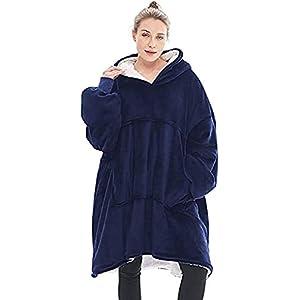 Seogva Sweat à capuche oversize Sherpa – Couverture super douce et chaude – Confortable – Taille unique – Pour hommes…
