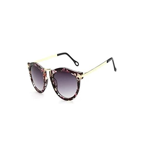 Garrelett Retro Classic Metal Arrow Sunglasses Reflective Sun Eyewear Eyeglasses Colorful Fancy Frame Gray Lens for Girls - Rim Oakley Frames Half