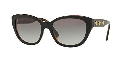 Versace 0VE4343 Gafas de sol, Black/Havana, 56 para Mujer ...