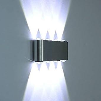 Lámpara de pared LED moderna, para Escaleras, pasillo, Luz Interior, lámpara con Efecto, plafón, luz blanca fría / cálida: Amazon.es: Iluminación