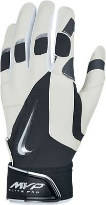 Nike GB0369 MVP Elite Pro Batting Gloves - White/Black