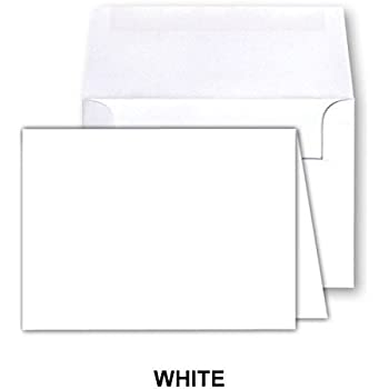 Amazon cream a2 foldover 50 greeting cards and envelopes white blank greeting fold over cards 80lb uncoated 4 12 x 6 m4hsunfo