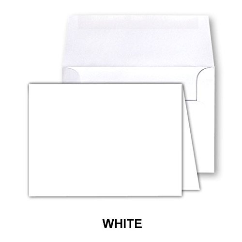 White Blank Greeting Fold Over Cards 80lb. Uncoated, 4 1/2 X 6 Inches Cards - 40 Foldover Greeting Cards Cards and Envelopes - Fold Over Stationery