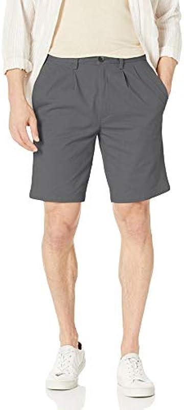 haggar męska hs11390 plisowana Shorts: Odzież