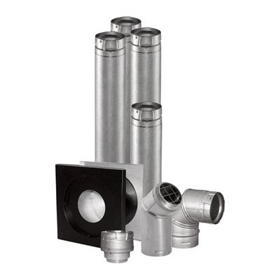 DuraVent Vent Unit Heater Kit - 4in. Horizontal, Model# 4UHK-KVNT